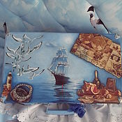 Сумки и аксессуары handmade. Livemaster - original item Suitcase for the captain. Handmade.