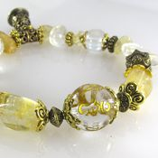 Украшения handmade. Livemaster - original item B29 Bracelet with citrine and bead