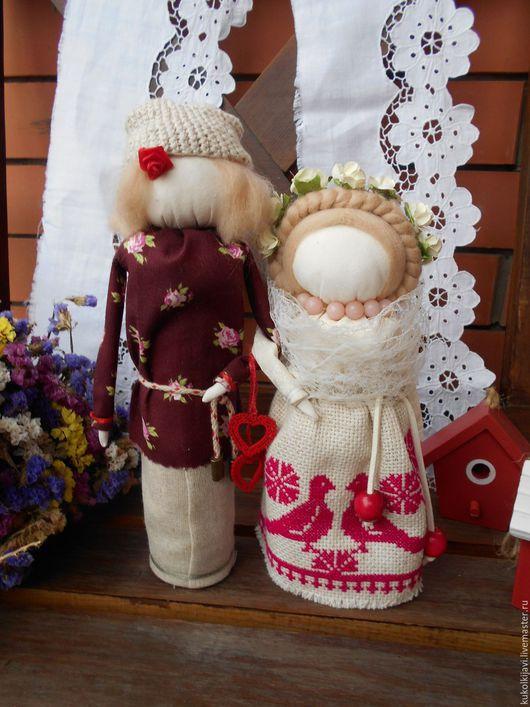 """Народные куклы ручной работы. Ярмарка Мастеров - ручная работа. Купить Кукла обрядовая свадебная """"Неразлучники"""". Handmade. Белый, свадьба"""