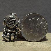 Материалы для творчества handmade. Livemaster - original item Octopus in a helmet charm. Handmade.