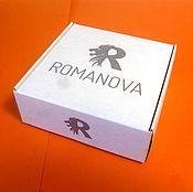 Материалы для творчества ручной работы. Ярмарка Мастеров - ручная работа Коробка 9х9х3,5 с Вашим логотипом с откидной крышкой белая. Handmade.