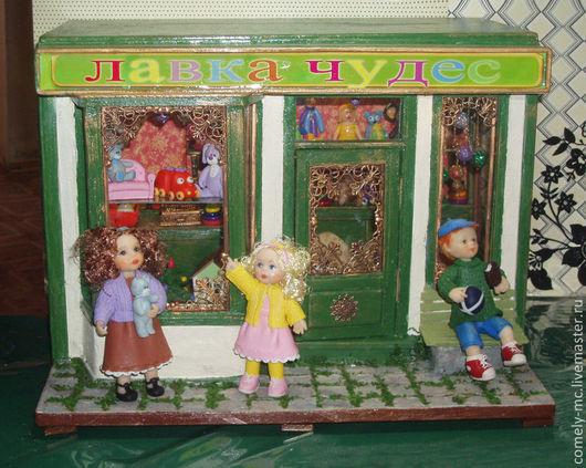 """Кукольный дом ручной работы. Ярмарка Мастеров - ручная работа. Купить Румбокс """"Магазин игрушек"""". Handmade. Румбокс, миниатюрная мебель"""