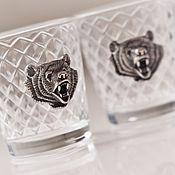 Сувениры и подарки handmade. Livemaster - original item A set of BEAR stacks of three in box (3х50мл). Handmade.