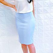Skirts handmade. Livemaster - original item 387-blue pencil Skirt. Handmade.