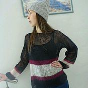 Аксессуары handmade. Livemaster - original item Knitted cap from kid-mohair. Handmade.