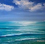 Картины и панно handmade. Livemaster - original item Oil painting. Sea. Turquoise waves. Handmade.