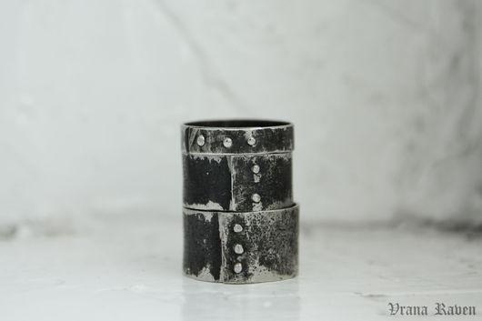 Кольца ручной работы. Ярмарка Мастеров - ручная работа. Купить Клепаные кольца. Handmade. Серебряный, брутальные кольца, широкие кольца
