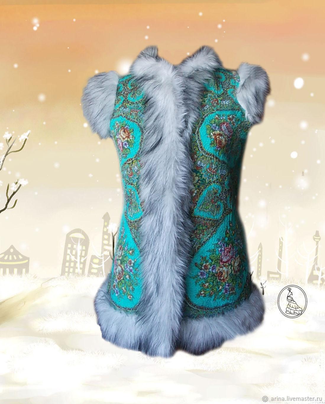 The felt waistcoat is Song of colors, Vests, Lipetsk, Фото №1