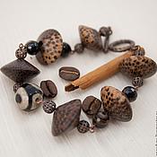 Украшения ручной работы. Ярмарка Мастеров - ручная работа Браслет Кофе и шоколад этно стиль, бохо стиль. Handmade.