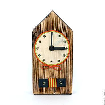 Для дома и интерьера ручной работы. Ярмарка Мастеров - ручная работа Настольные часы деревянные_Часы из натурального дерева_Часы-домик. Handmade.