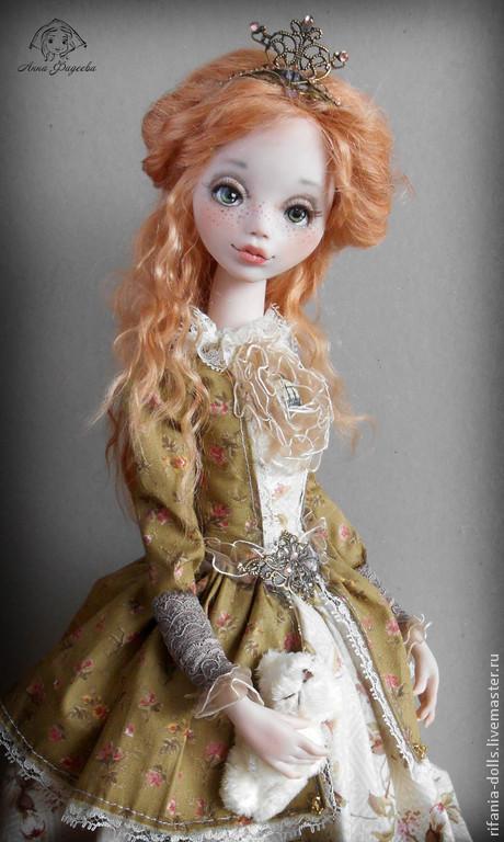 Коллекционные куклы ручной работы. Ярмарка Мастеров - ручная работа. Купить Шарлин. Handmade. Рыжий, сатин