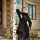 Верхняя одежда ручной работы. Готическое, черное пальто из флиса. Elven Forest. Интернет-магазин Ярмарка Мастеров. Черный, готы