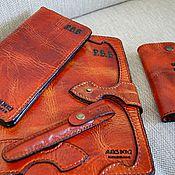 Подарки к праздникам handmade. Livemaster - original item Diary Leather. Handmade.