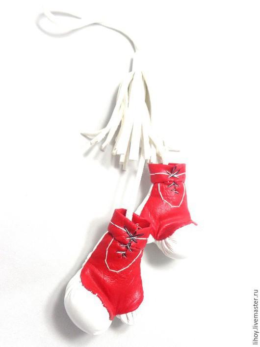 Автомобильные ручной работы. Ярмарка Мастеров - ручная работа. Купить Боксерские перчатки на зеркало в авто. Handmade. Разноцветный, боксер