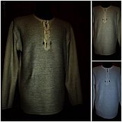 Одежда handmade. Livemaster - original item 100% linen.Chainmail shirt Gray and Beige White 2200 rubles 2500 rubles. Handmade.