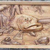 Картины и панно ручной работы. Ярмарка Мастеров - ручная работа Щука. Handmade.