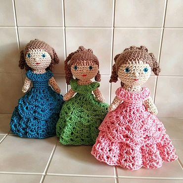 Кукла-шкатулка вязаная