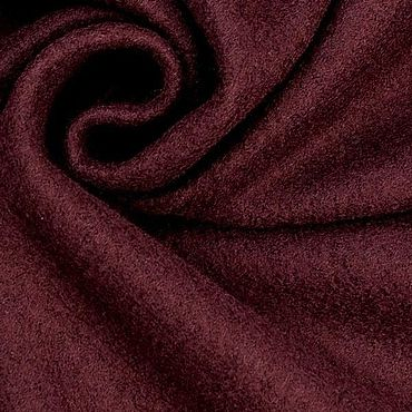Materials for creativity handmade. Livemaster - original item Fabric: Wool coat fabric, Burgundy color. Handmade.