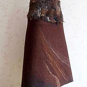 Одежда ручной работы. Ярмарка Мастеров - ручная работа Юбка валяная с флисом. Handmade.