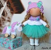 Куклы и игрушки ручной работы. Ярмарка Мастеров - ручная работа Малышка с единорожкой. Handmade.