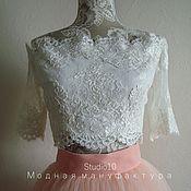 Одежда ручной работы. Ярмарка Мастеров - ручная работа Кружевной топ Шантильи. Handmade.