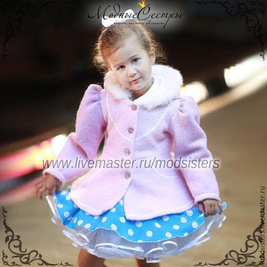 Одежда для девочек, ручной работы. Ярмарка Мастеров - ручная работа. Купить Пальто детское (розовое) Атр.-105. Handmade. Пальто