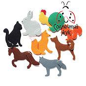 """Куклы и игрушки ручной работы. Ярмарка Мастеров - ручная работа Игровой набор из фетра """"Чей Хвост"""" с животными на липучках. Handmade."""