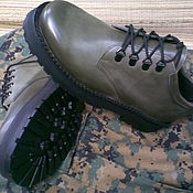 Ботинки ручной работы. Ярмарка Мастеров - ручная работа ботинки женские OLIVE. Handmade.