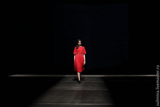 Платья ручной работы. Ярмарка Мастеров - ручная работа. Купить Платье-трансформер СВОБОДА. Handmade. Красный, платье красивое купить