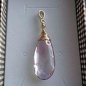 Украшения handmade. Livemaster - original item Pendant made of natural ametrine LUX IN 925 silver with gilding. Handmade.