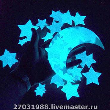 """Для дома и интерьера ручной работы. Ярмарка Мастеров - ручная работа Светящиеся виниловые наклейки """"Звездное небо"""" для стен и потолков. Handmade."""