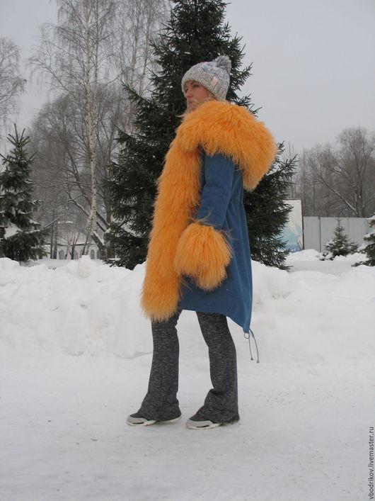 """Верхняя одежда ручной работы. Ярмарка Мастеров - ручная работа. Купить Куртка-парка """" Апельсинчик """". Handmade. Парка"""