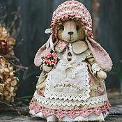 Куклы и игрушки ручной работы. Ярмарка Мастеров - ручная работа Зайка розовые ушки.. Handmade.