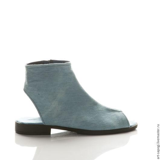 Обувь ручной работы. Ярмарка Мастеров - ручная работа. Купить Открытые летние ботинки 11-323 (ВЧ). Handmade. Мода