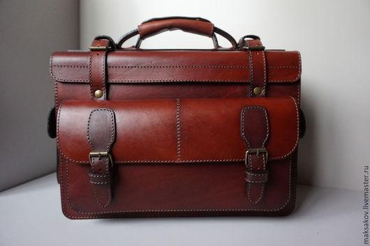 Мужские сумки ручной работы. Ярмарка Мастеров - ручная работа. Купить Лиговский саквояж. Handmade. Рыжий, натуральная кожа