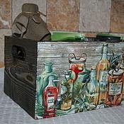Для дома и интерьера ручной работы. Ярмарка Мастеров - ручная работа По мотивам: Короб для специй. Handmade.