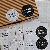 Материалы для творчества ручной работы. Ярмарка Мастеров - ручная работа Наклейки Hand Made 4шт,  1858. Handmade.