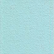 """Материалы для творчества ручной работы. Ярмарка Мастеров - ручная работа Бумага с тиснением """"Дамаск"""", цвет Голубой, 3 листа, 20 Х 30 см. Handmade."""