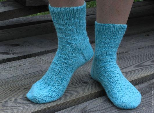 Носки, Чулки ручной работы. Ярмарка Мастеров - ручная работа. Купить Носки женские Бирюза. Handmade. Вязаные носки, бирюзовый
