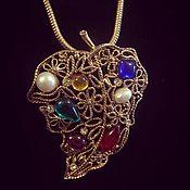 handmade. Livemaster - original item Haute couture chain pendant from the 1960s USA. Handmade.