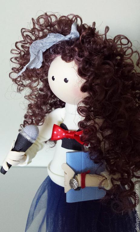 Коллекционные куклы ручной работы. Ярмарка Мастеров - ручная работа. Купить На кастинг. Handmade. Тёмно-синий, подарок девушке