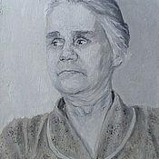 Картины и панно handmade. Livemaster - original item A portrait of his beloved grandmother oil. Handmade.
