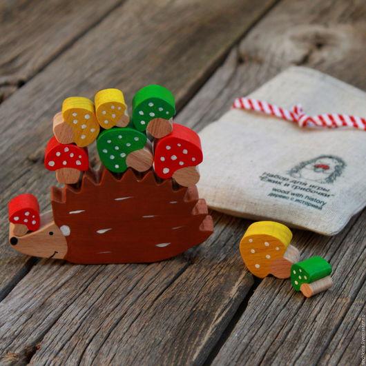 Развивающая игра, деревянные игрушки, ежик, игры для детей, купить деревянные игрушки. Мастер Сечкина Юлия http://www.livemaster.ru/sechkina