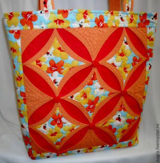 Женские сумки ручной работы. Ярмарка Мастеров - ручная работа. Купить Сумка Оранжевое Небо. Handmade. Комбинированный, легкая