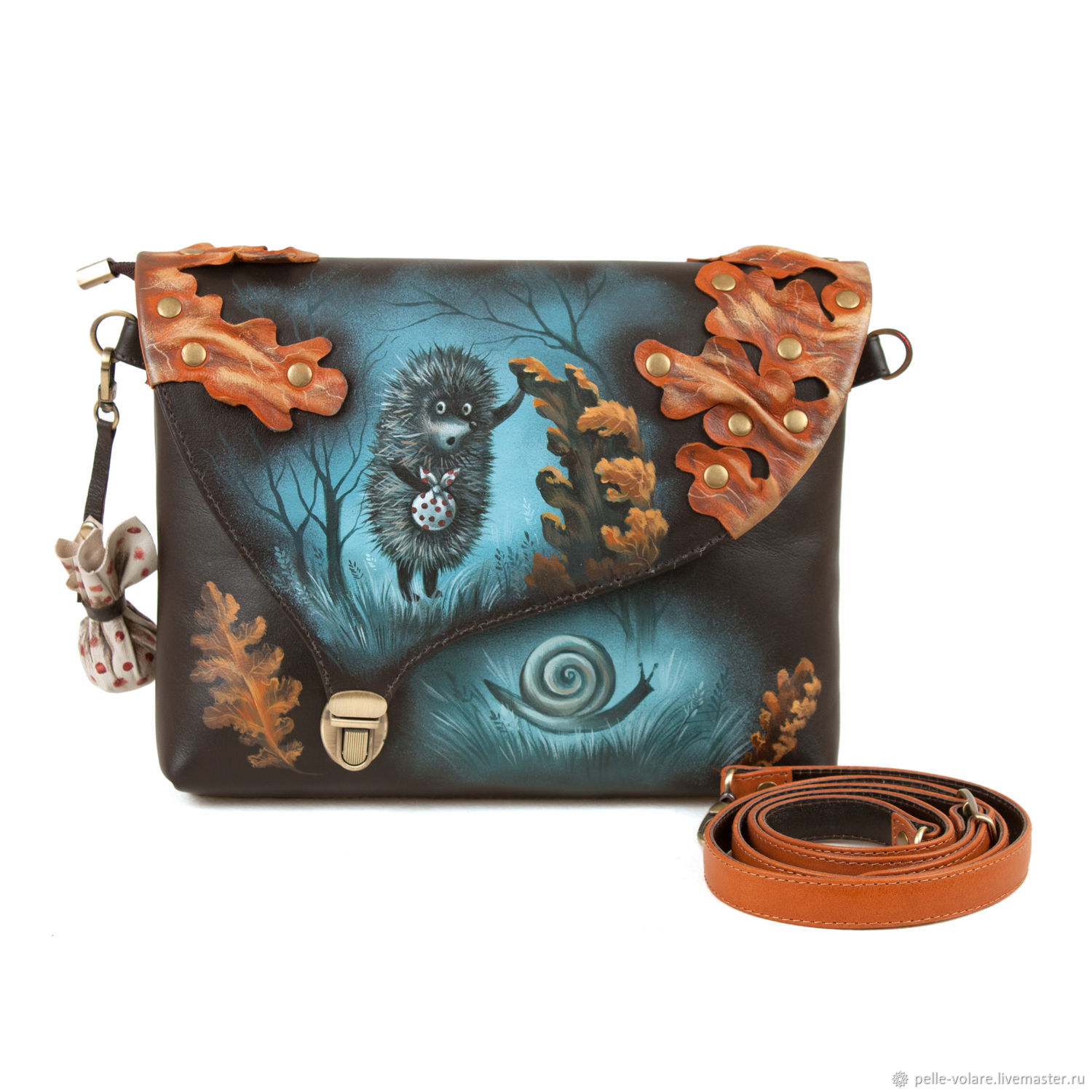 Clutch bag 'hedgehog and snail', Clutches, St. Petersburg,  Фото №1