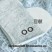 Фурнитура для шитья ручной работы. Ярмарка Мастеров - ручная работа Черное кольцо для бретели 10 мм металлическое. Handmade.