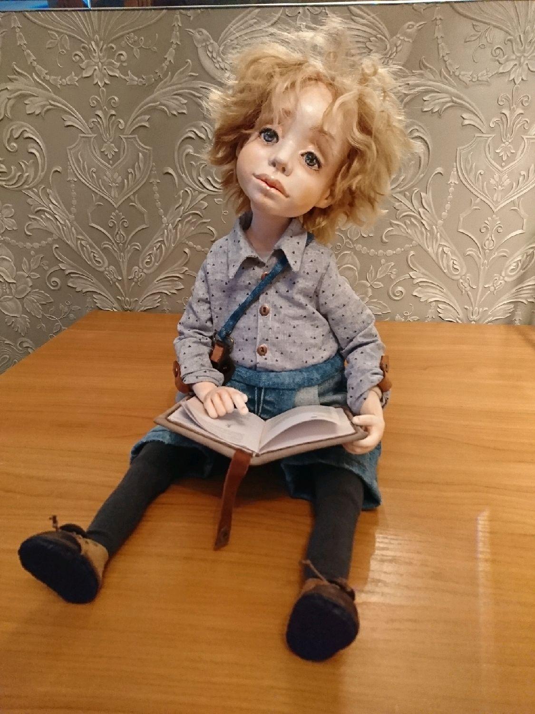 Коллекционные куклы ручной работы. Ярмарка Мастеров - ручная работа. Купить Кукла мальчик. Handmade. Кукла мальчик, джинса