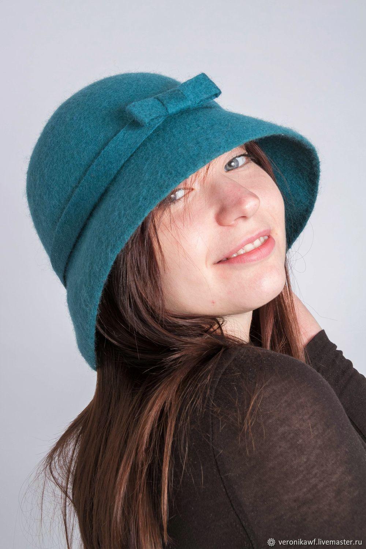 """Шляпа валяная """"Бирюза"""", Шляпы, Санкт-Петербург,  Фото №1"""