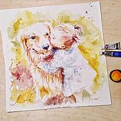 Картины и панно handmade. Livemaster - original item Sunny each-picture on paper. Handmade.