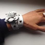 """Украшения ручной работы. Ярмарка Мастеров - ручная работа Браслет-намотка из кожи""""Фиалка"""". Handmade."""